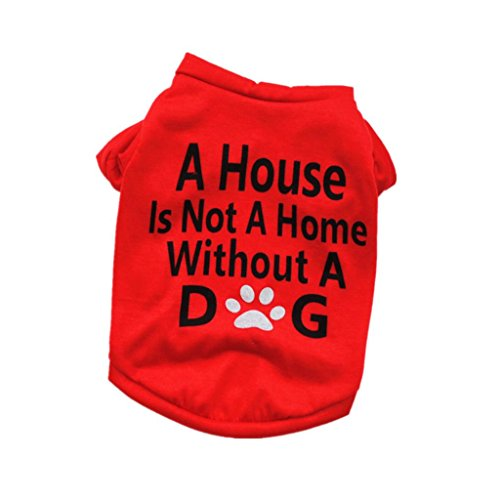 Funic Best Dog Lover Gifts Summer Cotton Shirt Small Dog Cat Pet Puppy Clothes Vest T Shirt