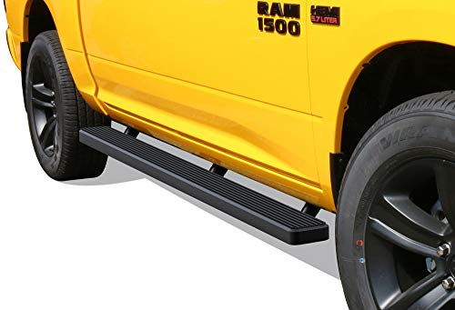 APS iBoard Running Boards 5 inches Matte Black Custom Fit 2009-2018 Ram 1500 Crew Cab Pickup 4Dr & 2010-2019 Ram 2500 3500 (Nerf Bars Side Steps Side Bars)