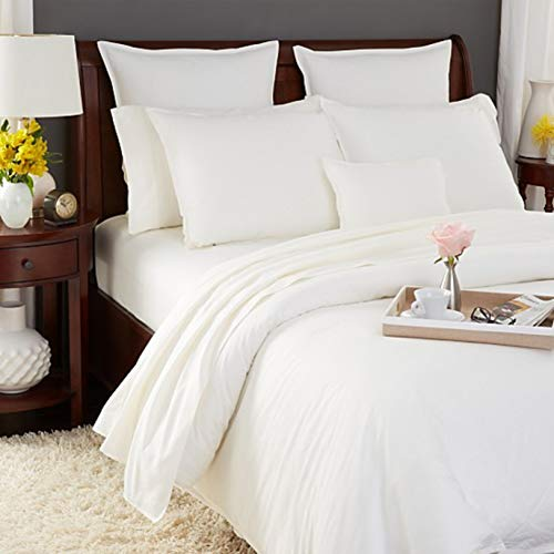 - SFERRA Larino Ivory King Sheet Set Solid 100% Egyptian Cotton Oxford Italy