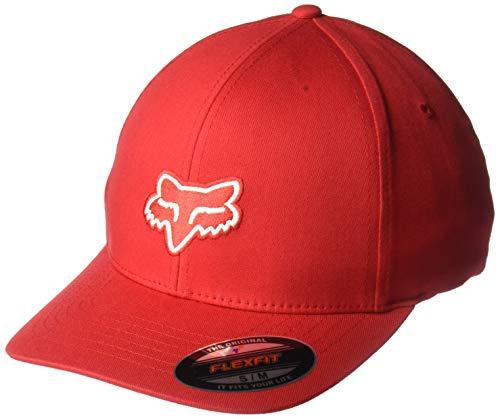 Fit Flex Fox - Fox Men's Legacy Flexfit HAT, Dark Red, S/M