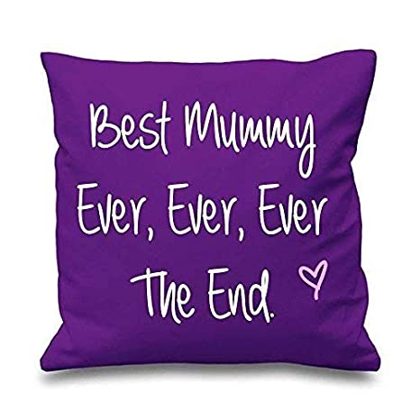 Lila funda de cojín MEJOR Mummy alguna vez alguna vez alguna ...