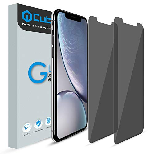 iPhone XR Screen Protector, [Anti Visual Hacking] [2 Pack] Cubevit iPhone XR Privacy Tempered Glass Screen Protector, [9H Hardness] Anti Spy Screen Protector for iPhone XR