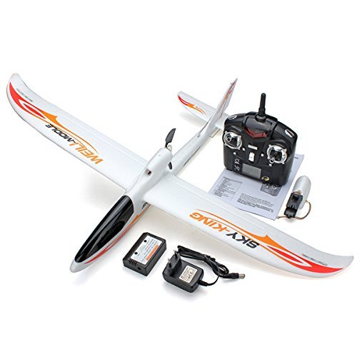 Wltoys F959 Sky King 2.4g 3ch 750mm Wingspan Rc Airplane with Led RTF and Camera (Rc Airplane Field Box)