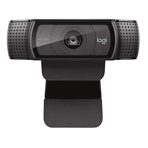 - Logitech HD Pro Webcam C920, Widescreen Video Calling and Recording, 1080p Camera, Desktop or Laptop Webcam
