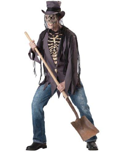 InCharacter Costumes, LLC Men's Grave Robber Costume, Black, (Robber Halloween Costumes Men)