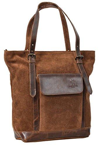 Shopper Gusti Leder studio Tamina Ledertasche Henkeltasche Damen Handtasche Damentasche Echt Leder Braun 2M61-26-18