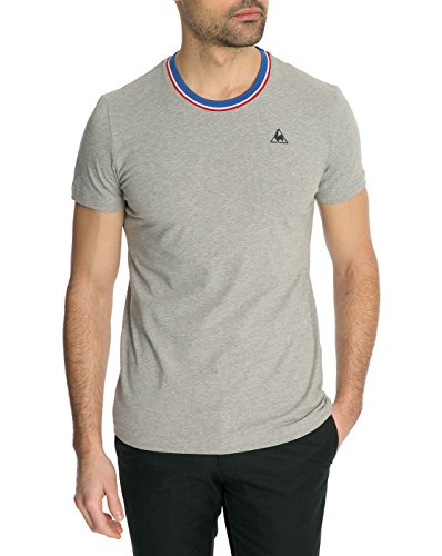 c75c452b96 Le Coq Sportif Men's Tricolour Round Neck T-Shirt M Grey - Buy Online in  UAE. | Apparel Products in the UAE - See Prices, Reviews and Free Delivery  in Dubai ...