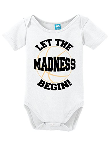 Sod Uniforms Let The Madness Begin Printed Infant Bodysuit Baby Romper White 0-3 Month