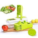 Vegetable Slicer Dicer, Mandoline Food Chopper Cuber Cutter ,10...
