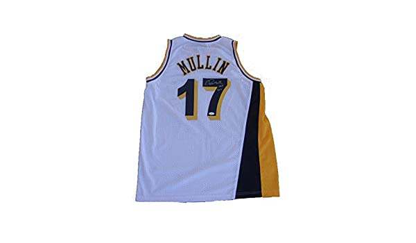 official photos 45684 65885 Chris Mullin Autographed Signed Indiana Pacers White Home ...