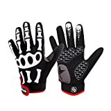 AINIYF Full Finger Motorcycle Gloves | Men's And Women's Mountain Bikes Sports Gloves Ankle Spring And Autumn (Color : White, Size : S)