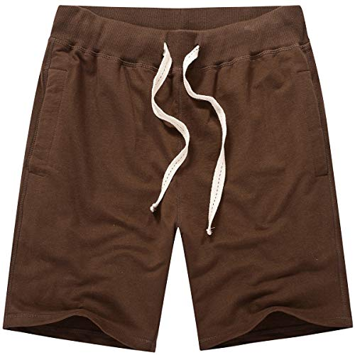 Amy Coulee Men's Casual Classic Short (M, Chocolate Brown)