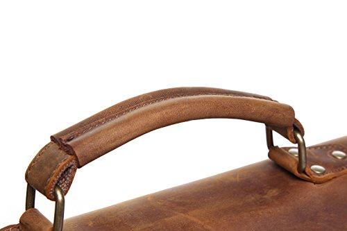 Computadora Oficial La Y Bandolera Messenger Crazy Totes Bolso Retro Para Lona Documento Piel Con De Horse Hombre Jiurui Beige Mochila cZUqwxCAg