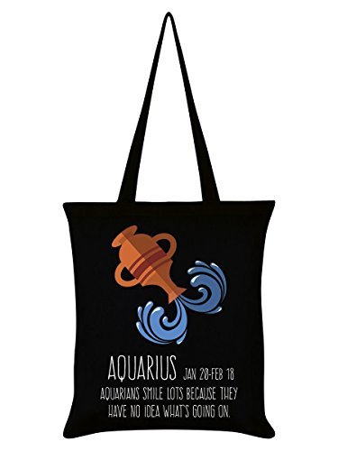 Hoodwink 38 Borsa 42 Aquarius Tote x cm Horoscopes nero in Acquario rOxwq5prX
