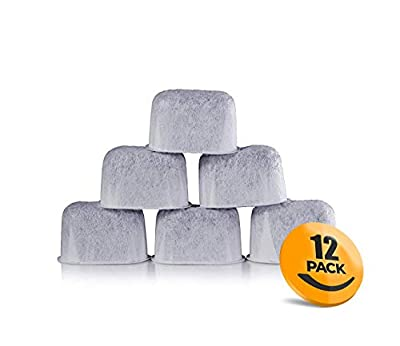 K&J 12-Pack of Cuisinart Compatible Replacement Charcoal Water Filters for Coffee Makers - Fits all Cuisinart Coffee Makers