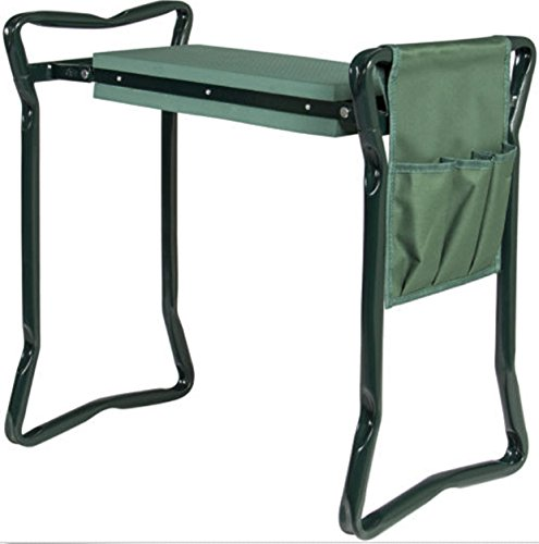 Foldable Garden Kneeler and Seat W/ Bonus Tool Pouch Portable Stool EVA Pad