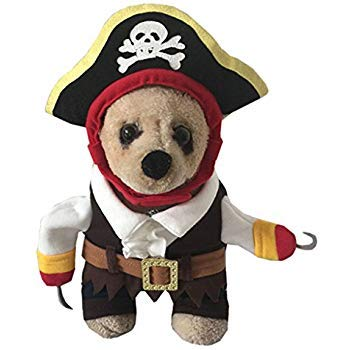 yolsun Caribbean Pirate Pet Costume for Little Dogs & Cats (L) - http://coolthings.us