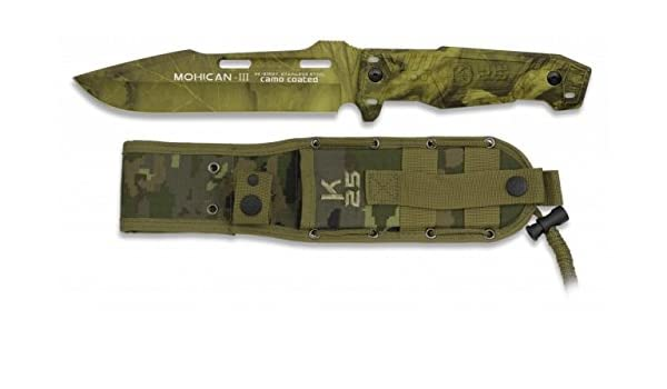K25 Cuchillo Mohican III Acero Inoxidable. Mango Aluminio y ...