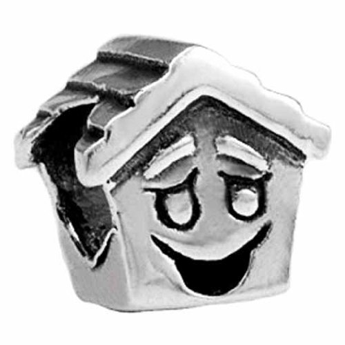 Silverado Kidz Silver Happy House Bead Charm for Kids (Bead Charm Silverado)