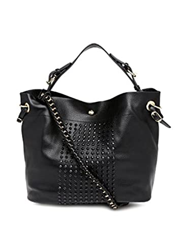 1baf06fa9f05 Buy ToniQ Black HandBag Shoulder Bag for Girls Women(Black) Online at Low  Prices in India - Amazon.in
