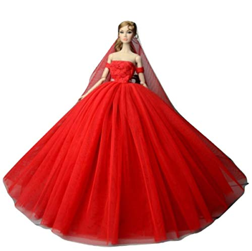 WEEKEND SHOP Babie Dresses Voile Party Dress Evening Gown Clothing Outfit Accessories Doll
