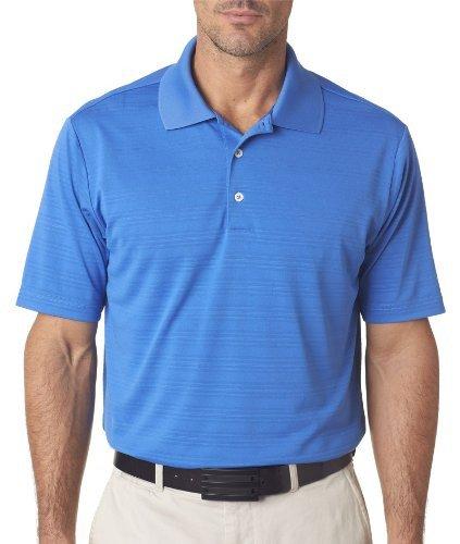 adidas Golf Mens Climalite Textured Short-Sleeve Polo (A161) -Gulf -3XL