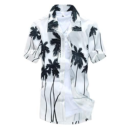 SFE Fashion Shirts,Men's Printed Blouse Casual Short Sleeve Slim Beach Shirts Tops - Mens Zoo York Polo Shirt