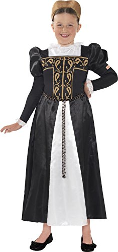 [Smiffys Girl's Black Horrible Histories Mary Queen Of Scots Costume Age 10-12] (Mary Queen Of Scots Fancy Dress Costume)
