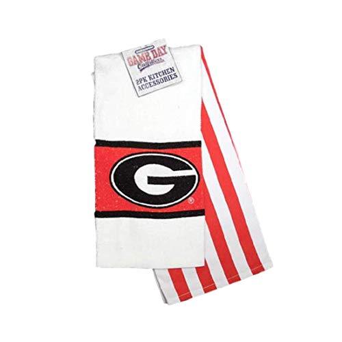Jenkins Enterprises Georgia Bulldogs 2 Piece Kitchen Towel Set