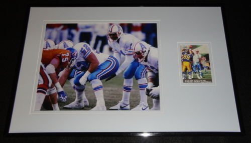 - Warren Moon Signed Framed 11x17 Photo Display Oilers C
