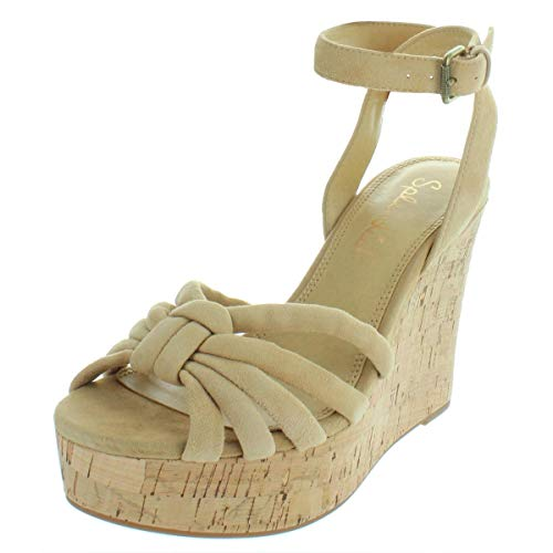Splendid Women's Fallon Wedge Sandal, Nude, 10 Medium US