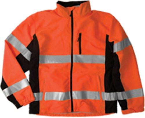 ML Kishigo WB101 Polyester Black Series Windbreaker High-Viz Jacket with Adjustable Cuffs, Extra Large, Orange