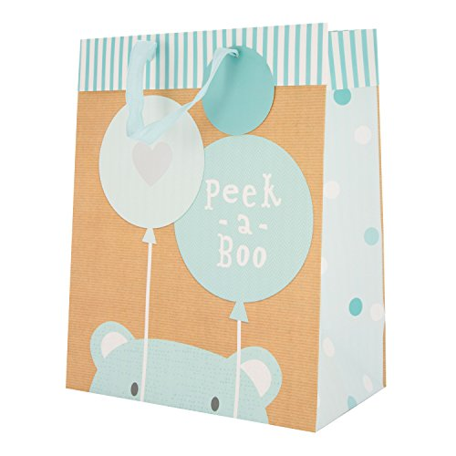 New Baby Boy Gift Bag 'Peek A Boo' - Large ()