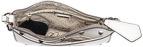 Guess Damen Korry Petite Crossbody Top Zip Umhängetaschen, Braun (Bone), One Size