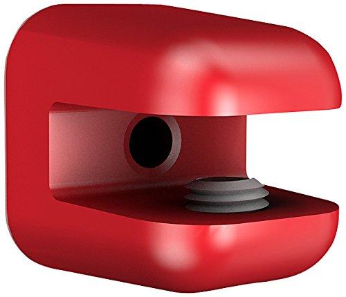 Bolis Italia AA2R027AQ2B2 - Set di 2 mensole linea Reggipiani, in plastica, 3 x 2,7 x 1 cm, colore: rosso