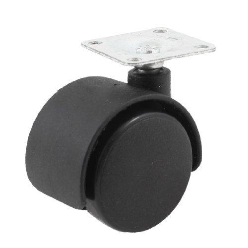 eDealMax 33mm Metal placa montada 38 mm de plástico de Doble rueda ...