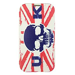 WEV Skull Uk Flag Battery Cover Leather Sheath for Samsung Galaxy S4 I9500
