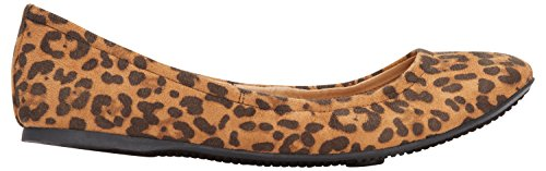 Rohb by Joyce Azria Corsica Round Toe Ballerina Flat (Leopard) Size (Ballerina Leopard)