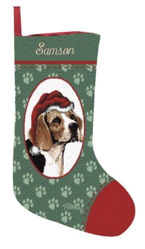 Personalized Beagle Pet Christmas Stocking (Tapestry Dog Christmas Stocking)
