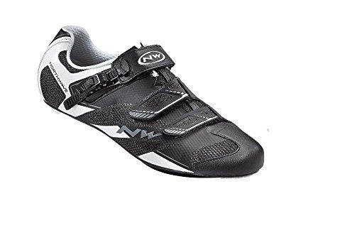 Los zapatos del zapato Northwave SONIC 2 SRS Road, en blanco y negro