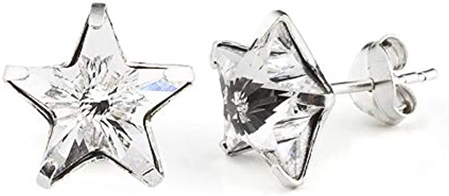 Vancrystals - Pendientes Camille de plata 925 con perlas Swarovski, Blanco
