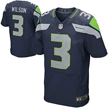 Wholesale Mens Seattle Seahawks Russell Wilson #3 Game Jersey (Blue, M