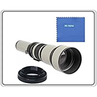 BiG DIGITAL 650-1300mm f/8-16 IF Telephoto Zoom Lens (White) for Nikon 3000, D3100, D3200, D3300, D5000, D5100, D5200, D5300, D7000, D7100, DF, D3, D3S, D3X, D4, D40, D40x, D50, D60, D70, D70s, D80, D90, D100, D200, D300, D600, D610, D700, D750, D800, D800E, D810, Digital SLR Cameras