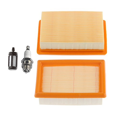 - HIPA (Pack of 2) Air Filter with Spark Plug Fuel Filter for STIHL BR340 BR340L BR380 BR420 BR420C SR340 SR420 Blower 4203 141 0301