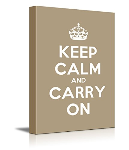 Keep Calm and Carry On Stretched Brown