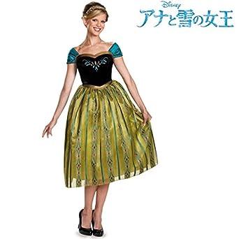 190097a897de1  Sサイズ アナと雪の女王 ドレス アナ 大人 女性用 コスチューム 戴冠