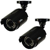 Q-See QTH8053B-2 1080p HD Analog Bullet Security Camera 2-Pack (Black)
