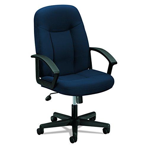 Frame Navy Black Fabric - HON Executive High-Back Swivel/Tilt Chair, Navy Fabric/Black Frame (HVL601)