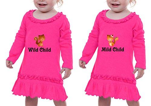 Wild Child Mild Child Style 1 Sunflower Long Sleeve Dress Twin Set