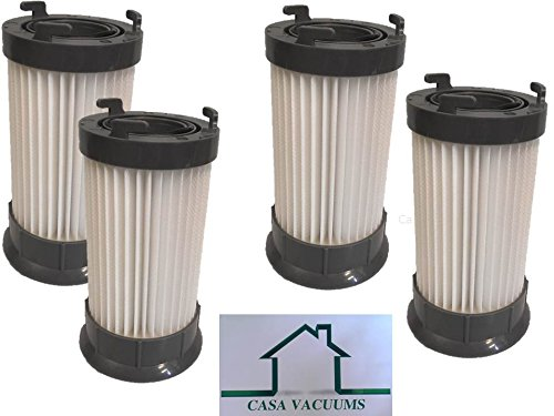 4 Eureka DCF-4 DCF-18 Washable & Reusable Long-Life Vacuum Filter bundle supply kit; Replaces Eureka GE DCF1 DCF4 DCF18 Part # 62132 63073 61770 3690 18505 28608-1 28608B-1, by Casa Vacuums -